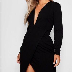 Plus Plunge Wrap Midi Dress ✨❤️